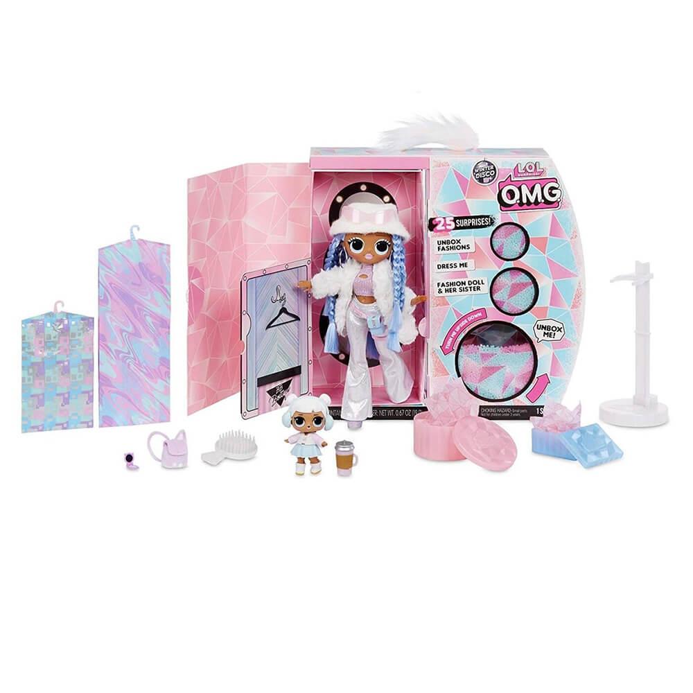 Кукла LOL Surprise OMG Winter Disco Snowlicious And Snow Angel с 25 сюрпризами